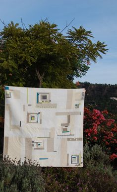 Sing It Out Loud Quilt from afar | blooming poppies