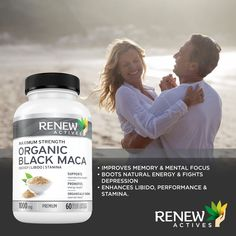 Maca may improve your mental well-being and mood by reducing depression and anxiety, especially in menopausal women. Supplementing with maca may improve exercise performance, particularly during endurance events.💆♂️ Get one today Black Maca, Maca Root Powder, Sagging Skin, Natural Energy, Energy Level, How To Increase Energy, Pills, Improve Yourself, Brain Fog