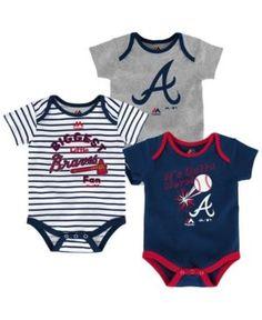 Majestic Atlanta Braves Homerun 3-Piece Set, Baby Boys (0-9 months) - Blue 0-3 months