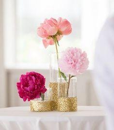 Gold Floral Centrepieces