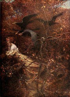 Haunted Wood - Arthur Rackham 1913