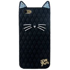 iPhone 6S Plus Case, MC Fashion[Bling Bling Cat Silicone Case Series]... (£14) ❤ liked on Polyvore featuring accessories and tech accessories