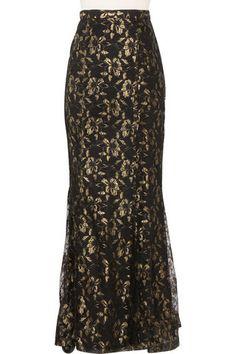 Baroque Ruffle Back Lace Skirt www.hautehijab.com