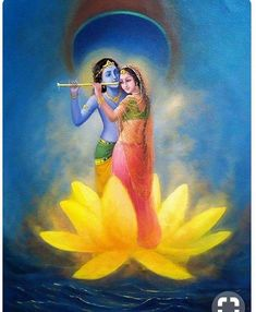 Radha Krishna on a lotus Krishna Leela, Jai Shree Krishna, Radha Krishna Photo, Krishna Radha, Radha Rani, Durga, Hindus, Lord Krishna Wallpapers, Radha Krishna Wallpaper