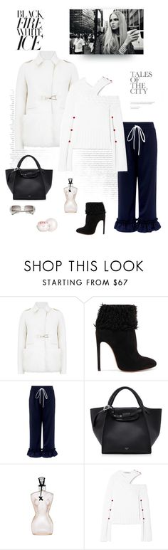 """Black & White for Friday"" by shoptillyadrop ❤ liked on Polyvore featuring Gabriela Hearst, Alaïa, Mother of Pearl, CÉLINE, Jean-Paul Gaultier, Hellessy and Guerlain"