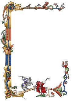 Medieval border by dashinvaine.deviantart.com on @deviantART