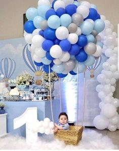 first birthday party favors Baby Boy Birthday Themes, Baby Birthday Decorations, Boys First Birthday Party Ideas, Baby Boy 1st Birthday Party, Girl Baby Shower Decorations, Balloon Decorations Party, Balloon Ideas, Balloon Garland, Baby Shower Balloons