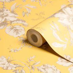 Arthouse Vintage Fleurette Gold Effect Floral Wallpaper | @ @$27.00 /Departments | DIY at B&Q