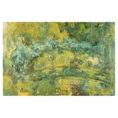 Bring gallery-worthy appeal to your walls with this artful canvas giclee print, showcasing a reproduction of Claude Monet's Passage on Waterlily 1919.   Product: Canvas giclee printConstruction Material: Canvas and woodFeatures:  Reproduction of work by artist Claude MonetGallery-wrappedMade in the USA Ready to hang