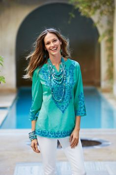 The Iconic Tunic: Embroidered #chicos.  I actually already have this, but I love it.  - CEC