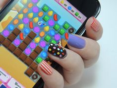 Nailstorming - Jeux Vidéo - Candy Crush nails - Video Games nails
