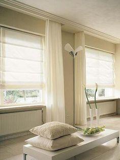 Foto: lange gordijnen, rol, overgordijnen . Geplaatst door laurasnebel op Welke.nl