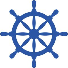 Blue wheel Silhouette Cameo, Silhouette Cutter, Anchor Clip Art, Nautical Clipart, Anchor Baby Showers, Boat Wheel, Scrap, Nautical Party, Silhouettes