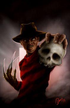 Freddy Krueger by Antonio Salazar Freddy Krueger, Robert Englund, Movie Hall, I Movie, Horror Icons, Horror Art, Scary Movies, Horror Movies, Horror Film