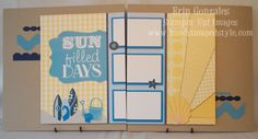 Stampin' Up!  SCIC56  Erin Gonzales at Hand Stamped Style: MDS Monday Beachy Blues