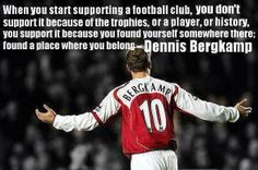 Arsenal supporters know the meaning of this famous DB quote.