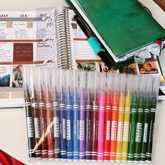 Hubby just gets me.  These came from amazon today.  Brush markers for coloring and practicing my llamas love lettering \ by tututuesdays