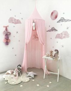 Crib Netting Baby Mosquito Net With Ball Tassel Anti Insect Kid Room Princess Bed Canopy Kids Room Bedding Round Bed Mosquito Net Matching In Colour
