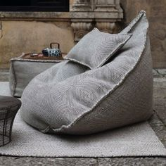 Discover our original black bean bag pouf from the Sail collection, a casual seat made with a Dhurrie handmade fabric. White Dining Room Chairs, Wayfair Living Room Chairs, Accent Chairs For Living Room, Dining Table Chairs, Lounge Chairs, White Chairs, Beach Chairs, Pouf Chair, Ikea Chair