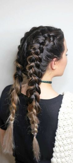 The most gorgeous french braid pigtails! Click here for full step-by-step hair tutorial!
