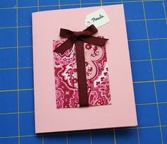 """this is a great """"happy birthday"""" card. it has a gift on it -- it would be great to make a card like this for someone, w a pocket inside the card, & include a gift card or a ten bill inside the pocket (a kid would love this!)"""