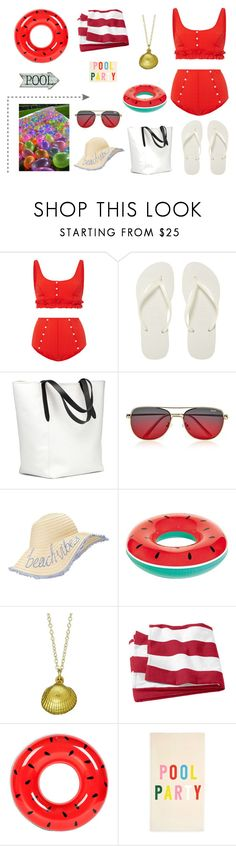 """""""Day 19 - 100 day Challenge"""" by sofifer ❤ liked on Polyvore featuring Lisa Marie Fernandez, Havaianas, Quay, Miss Selfridge, Chupi, Sunnylife and ban.do"""