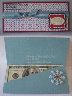christmas 4 Money Holders {free patterns} photo---ok I KNOW its not a card! Scrapbooking 3d, Scrapbook Cards, Christmas Gift Card Holders, Christmas Cards, Diy Christmas, Holiday, Gift Cards Money, Money Envelopes, Money Holders
