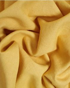 A medium weight linen and cotton blend fabric. This natural, breathable fabric comes in a bright sunshine yellow shade. Viscose Fabric, Cotton Fabric, Fabric Names, Shades Of Yellow, Lining Fabric, Fabric Swatches, Truro Fabrics, Summer Outfits