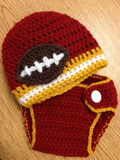 Newborn Diaper Cover and Team Colors Beanie Photo Prop. (choose your own team) featured in FSU $30.00, via Etsy.