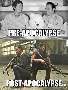 #Rickyl Before and after the apocalypse #TheWalkingDead