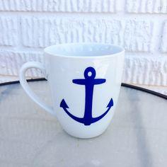 Anchor Nautical Mug by KrystlesCraftCloset on Etsy