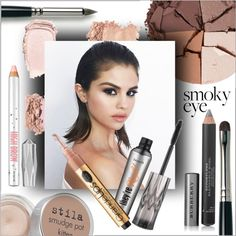 Smoky eye by frenchfriesblackmg on Polyvore featuring polyvore, beauty, lilah b., Stila, Benefit, Laura Mercier and Burberry