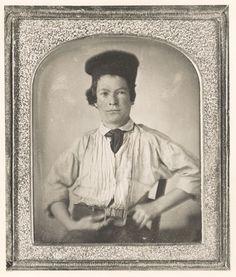 Samuel Clemens (a.k.a Mark Twain), age 15, 1850. Daguerreotype taken when he was a printer in Hannibal, Missouri.