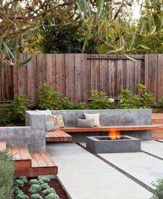 35 Modern outdoor patio designs that will blow your mind Design Patio, Outdoor Patio Designs, Modern Garden Design, Backyard Garden Design, Contemporary Garden, Garden Bed, Small Backyard Design, House Design, Small Patio