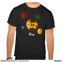 MST3K Quiz Promo Men's Basic Dark T-Shirt for the android application #cool #mst3k #humor #science #geek #nerd #awesome #quiz #mystery #theatre #3000