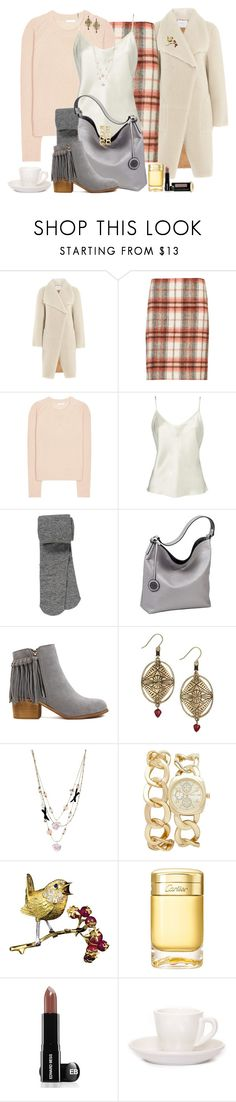 """""""Espresso Love"""" by winscotthk ❤ liked on Polyvore featuring Velvet, M&S Collection, Chloé, maurices, Sydney Love, Betsey Johnson, Forever New, Buccellati, Cartier and Edward Bess"""