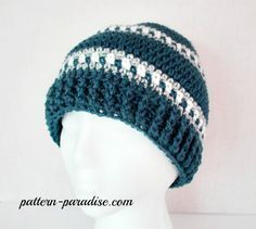 Free crochet pattern for mens hat beanie, womens hat #crochet #freepatterns #hat…
