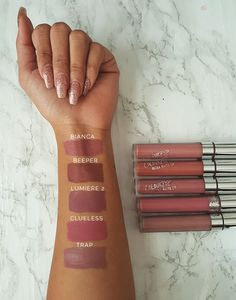 ColourPop Swatches: Bianca, Beeper, Lumiere 2, Clueless, Trap Half Baked Blog//