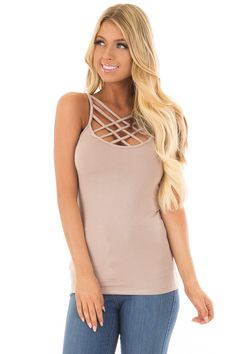 43696de11287b Lime Lush Boutique - Cocoa Reversible Criss Cross Tank Top