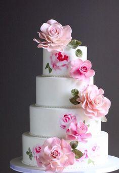 Wedding Cake Inspiration - I Do! Wedding Cake Designs, Wedding Cupcakes, Gorgeous Cakes, Pretty Cakes, Wedding Cake Alternatives, Amazing Wedding Cakes, Painted Cakes, Wedding Cake Inspiration, Wedding Ideas