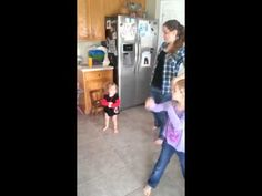"""2 yr old dancing the """"Wobble"""" w/ a surprise end!"""