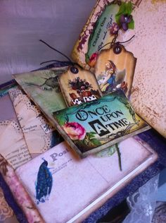 Alice In Wonderland theme Wedding Scrapbook by AsuitcaseOfmemories, £115.00