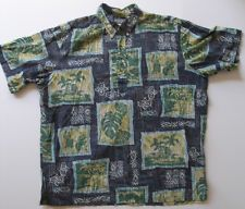 Reyn Spooner Hawaiian Shirt Phil Edwards Hula Girl Guitar Surfer All Cotton XXL