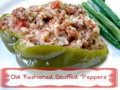 We're revisiting old fashioned comfort food in August. Stuffed Bell Peppers are a favorite and at 1.28 per serving they are going to be one of your favorites, too.
