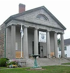 Plymouth MA - Pilgrim Hall Museum, the oldest public museum in the US - opened 1824