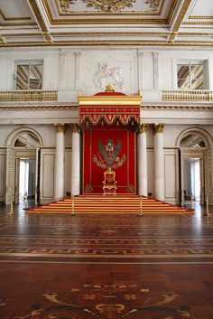 The Large Throne Room - The Hermitage, St. Petersburg, Russia