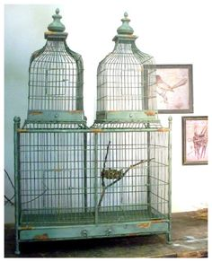 French Aviary Bird Cage - Triple Structure - Pringle and Zimring