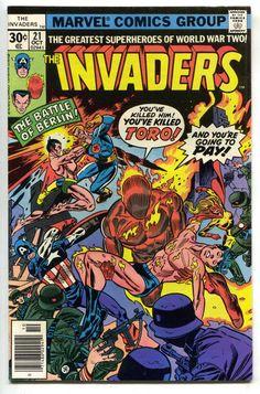 Invaders 21 1st Series Marvel 1977 VF Captain America Namor Nazi