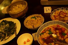Some of the delicious dishes made by author Aoe.