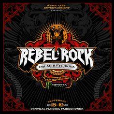 All NEW Rebel Rock music festival coming to Orlando, FL in Orlando Florida, Central Florida, Rock Festivals, Music Festivals, Festival Logo, Rock Concert, Concert Photography, Juventus Logo, Rock Music